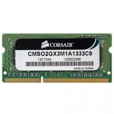 Corsair Memory 2 GB DDR3 1333 Mhz SO DIMM CMSO2GX3M1A1333C9